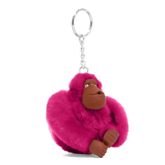 Sven Monkey Keychain,Very Berry,large