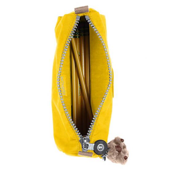 Fabian Cosmetics & Pen Case,Jicama Yellow Combo,large