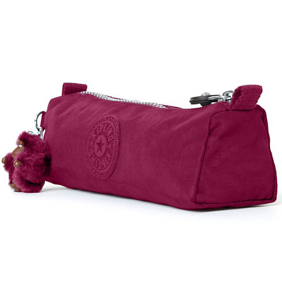 Fabian Cosmetics & Pen Case,Deep Red,large