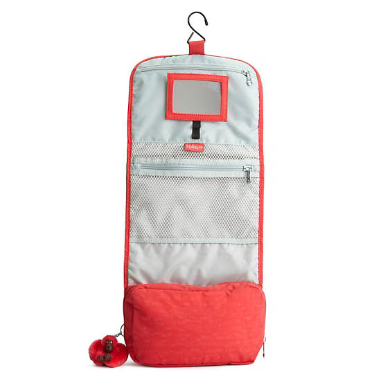 FLAX HANGING TOILETRY BAG,Pointsetta,large