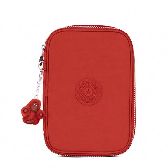 100 Pens Case,Red Rust,large