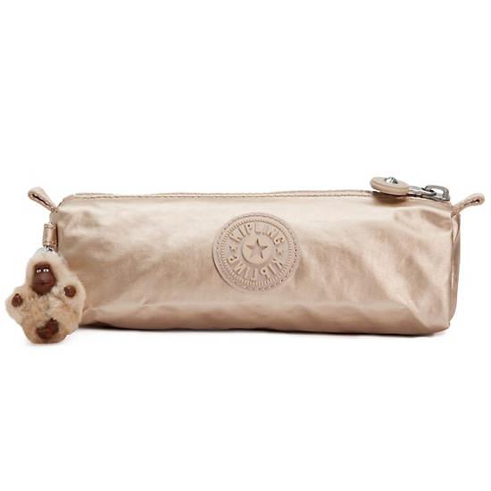 Fabian Metallic Cosmetics Bag/Pen Case,Toasty Gold,large
