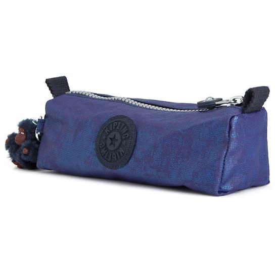 Fabian Metallic Cosmetics Bag/Pen Case,Sailor Blue,large