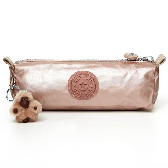 Fabian Metallic Cosmetics Bag/Pen Case,Rose Gold,large