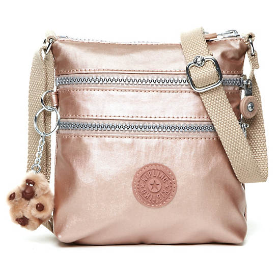 Alvar XS Metallic Mini Bag,Rose Gold,large