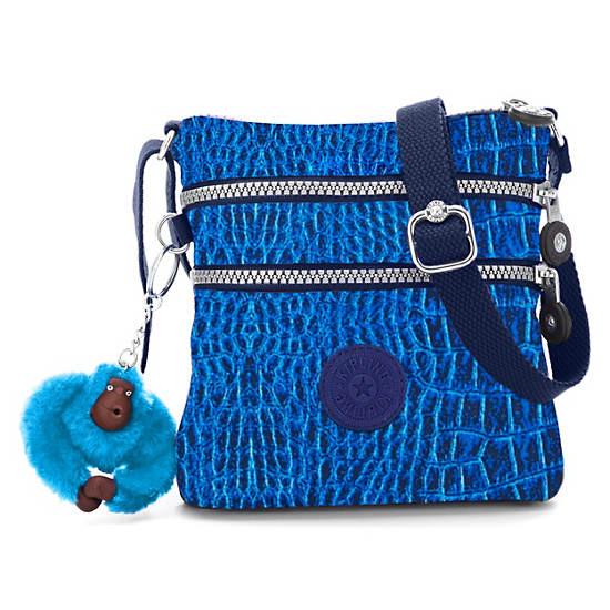 Alvar XS Printed Mini Bag,Skyler Blu Croc,large