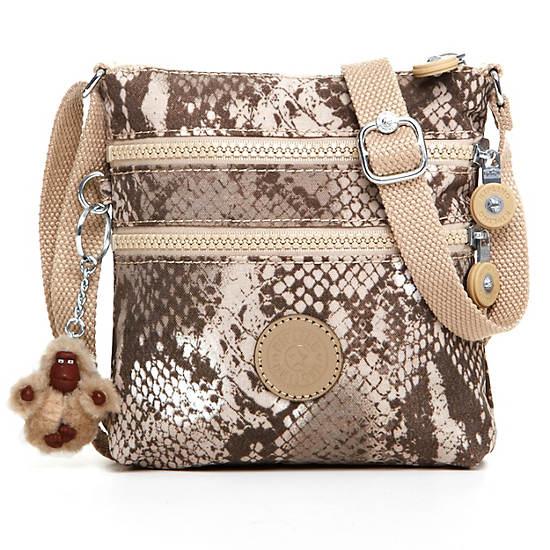 Alvar XS Printed Mini Bag,Beige Snake,large