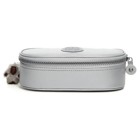 Duobox Rustic Pen Case,Silver Metallic,large