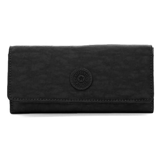 Lakeisha Slim Organizer Wallet,Black,large