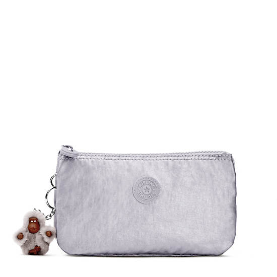 Creativity Metallic Large Pouch,Platinum Metallic,large