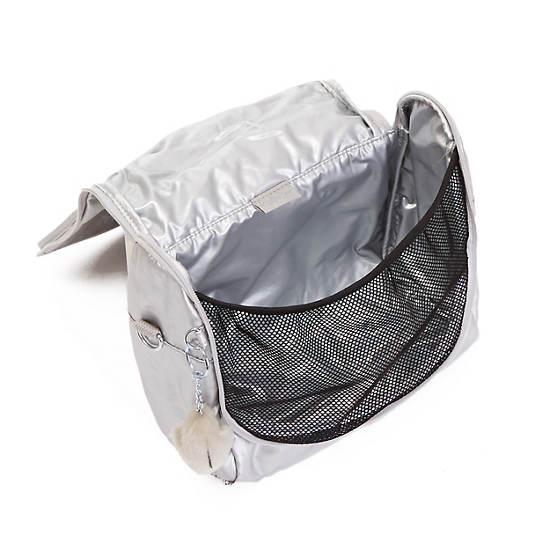 Kichirou Metallic Lunch Bag,Platinum Metallic,large