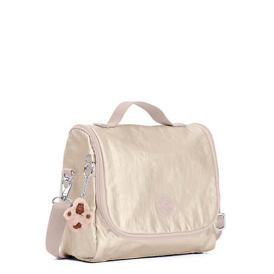 Kichirou Metallic Lunch Bag,Sparkly Gold,large