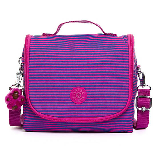 Kichirou Lunch Bag,Orchid Stripe,large
