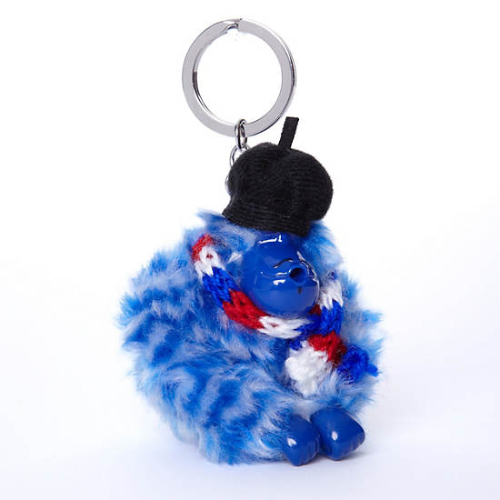 France Monkey Keychain,Multi,large