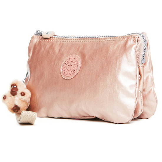 Creativity XL Metallic Pouch,Rose Gold,large