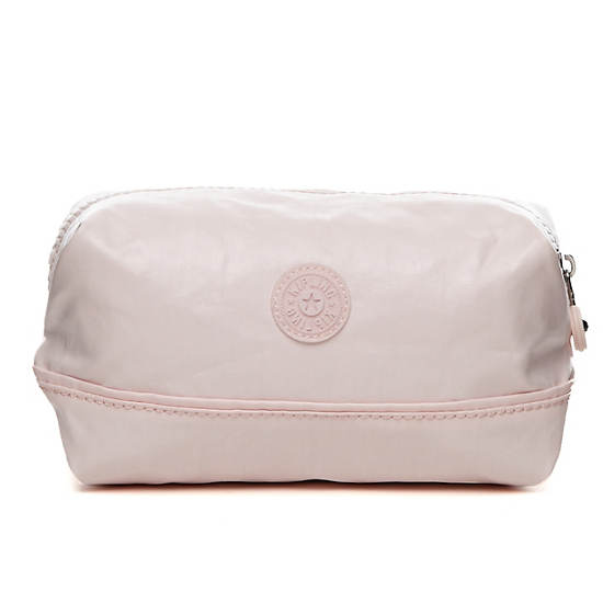 Marna Pouch,Pearlized Sweet Pink,large