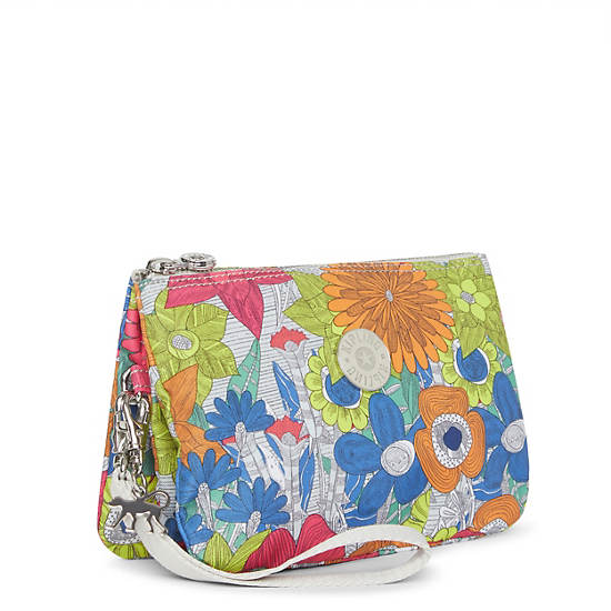 Creativity XL Printed Pouch,Floral Carnation,large