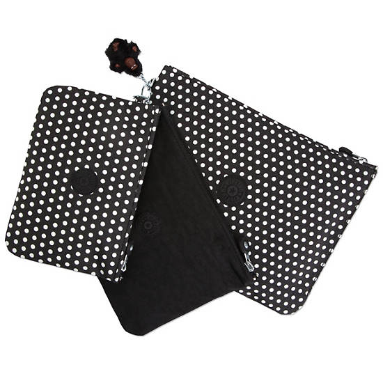 Iaka Large Print Pouch,White Dot,large