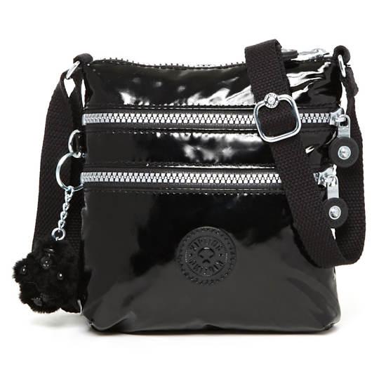 Alvar XS Crossbody Mini Bag,Black Patent,large