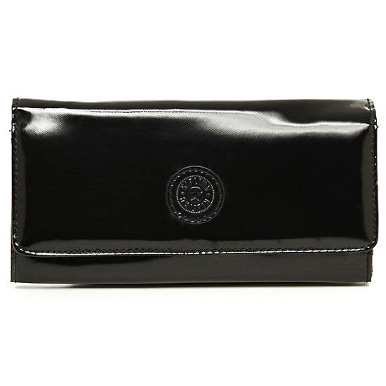 Teddi Wallet,Black Patent,large