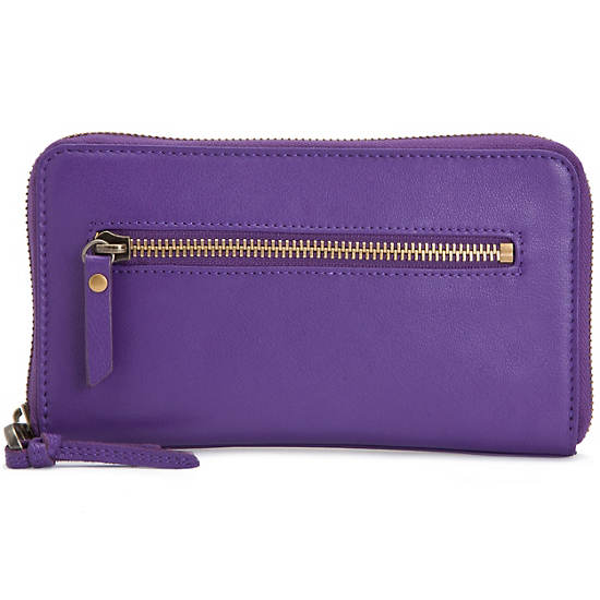 Alvis Leather Wallet,Imperial Purple,large