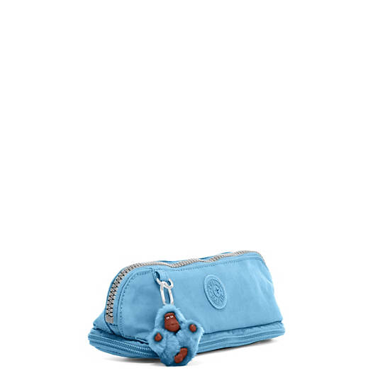 Kent Zip Pencil Pouch,Blue Grey,large