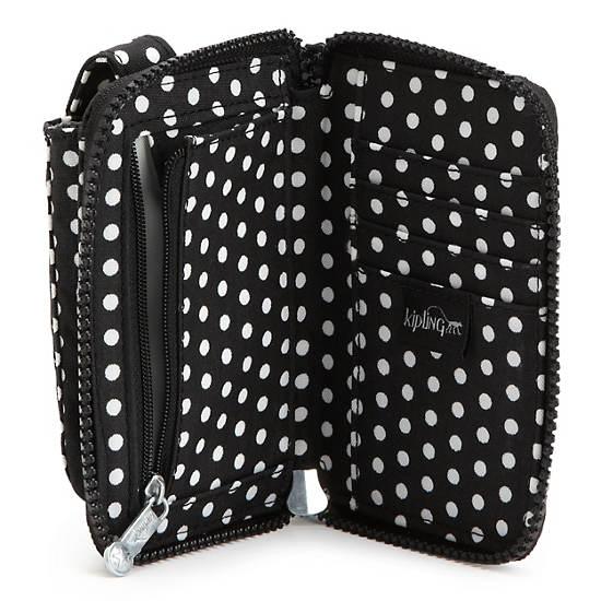Pattie Wallet Wristlet,White Dot,large