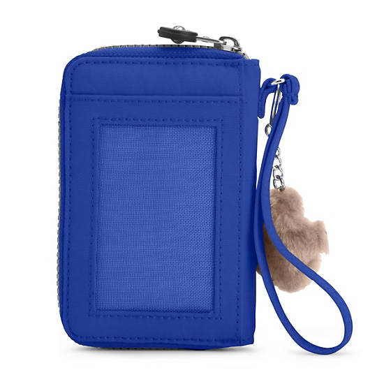 PATTIE WALLET WRISTLET,Glass Bottom Blue,large