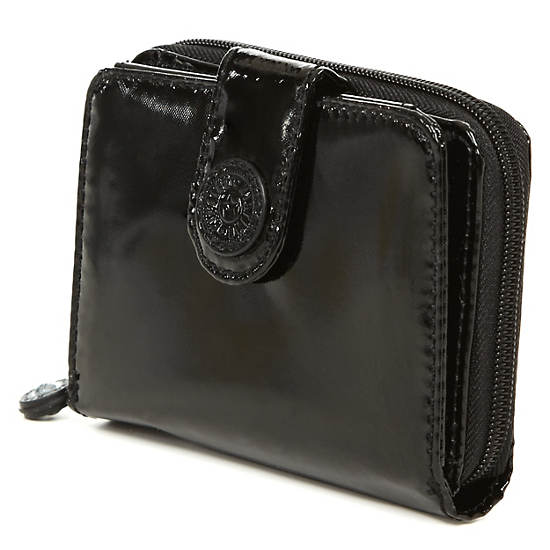 New Money Deluxe Wallet,Black Patent,large