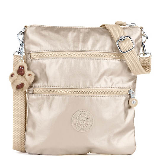 Rizzi Metallic Convertible Mini Bag,Sparkly Gold,large