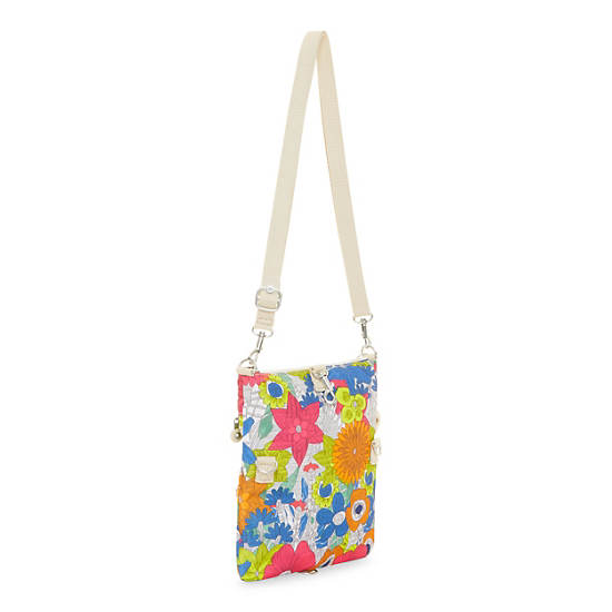 Rizzi Printed Convertible Mini Bag,Floral Carnation,large