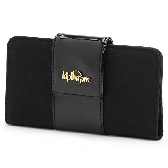 Gaudin Wallet,Black Patent Combo,large