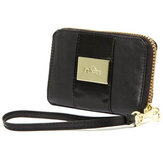 Essa Wristlet Wallet,Black Gold Mix,large