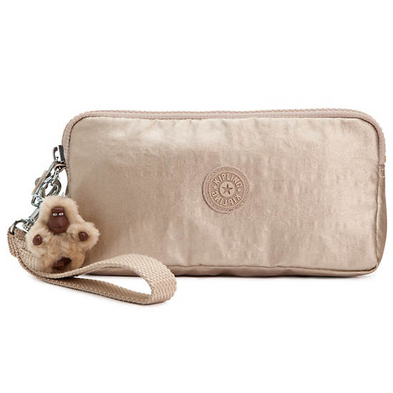 Bernard Wristlet,Toasty Gold,large
