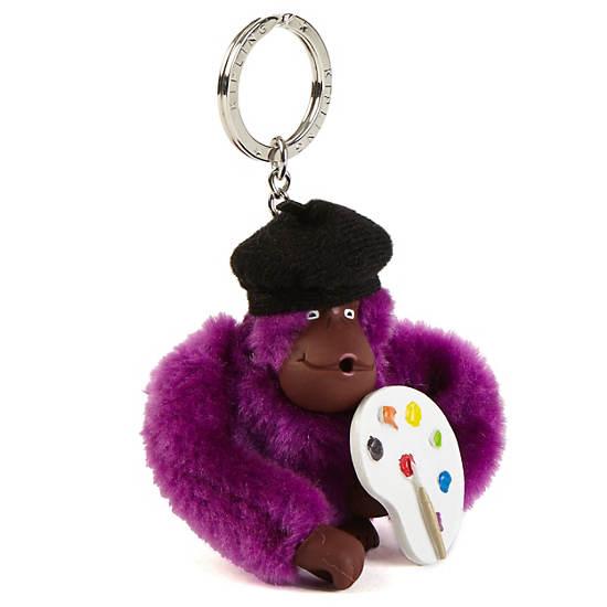 Artist Monkey Keychain,Multi,large