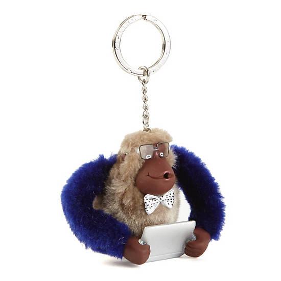 Nerdy Monkey Keychain,Multi,large