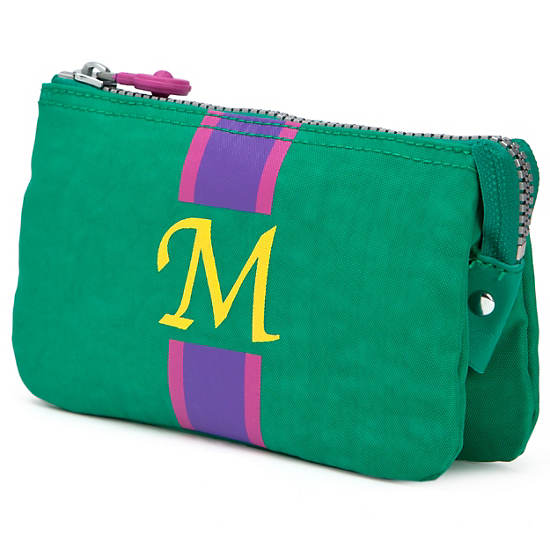 Creativity Large Pouch With Initial,Cactus Multi,large