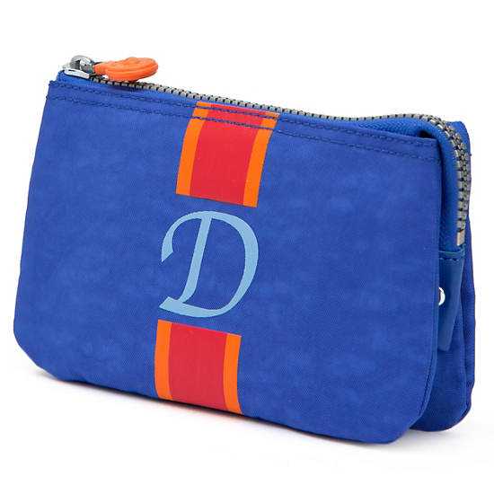 Creativity Large Pouch With Initial,Glacier Blue Multi,large
