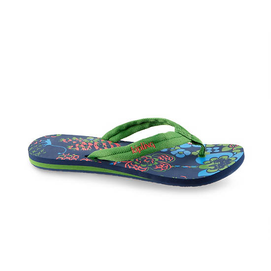 Kipling Flip Flops (Small),Cool Blue,large