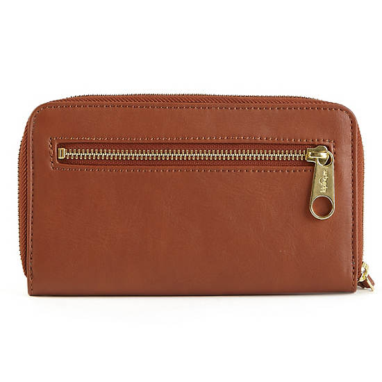 Always On MORRIE Wristlet Wallet,Pumpkin Spice,large