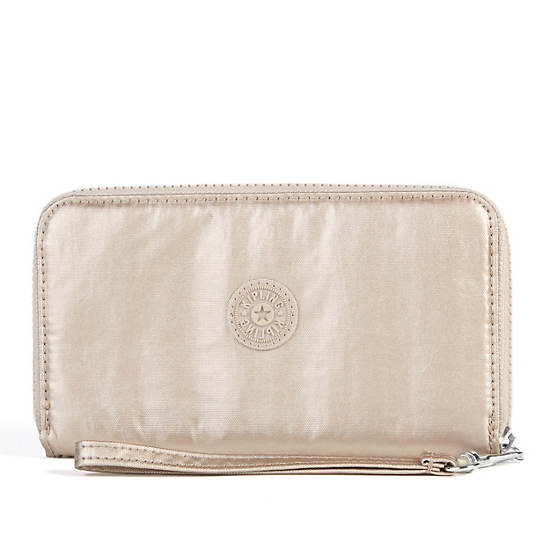 Morrie Wristlet Wallet,Toasty Gold,large