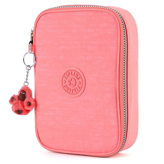 100 Pens Case,Tomato Red,large
