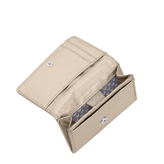 Clea Snap Wallet,Champagne Metallic,large