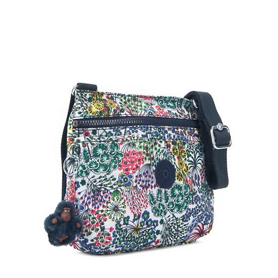 Emmylou Printed Crossbody Bag,Little Flower,large