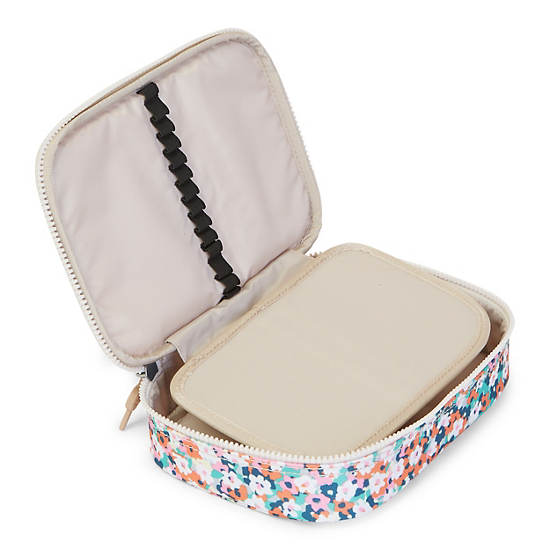 100 Pens Printed Case,Meadow Flower Pink,large
