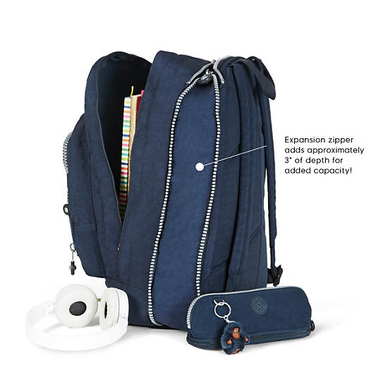 Hal Expandable Backpack,True Blue,large