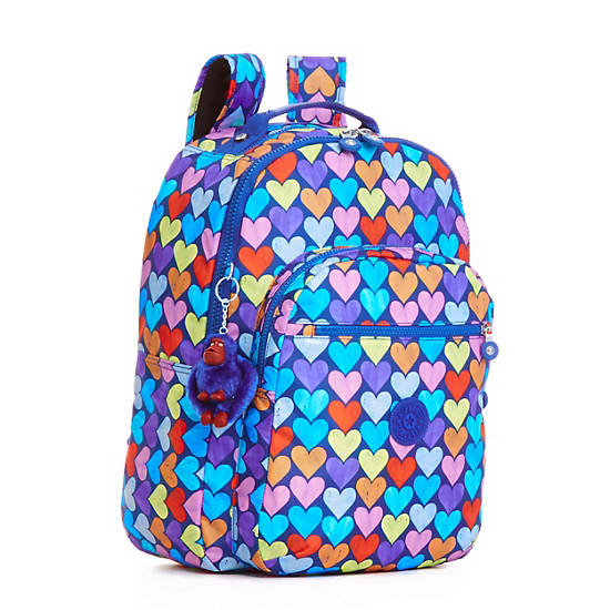 Seoul Large Printed Laptop Backpack,Festive Beauty Blue,large