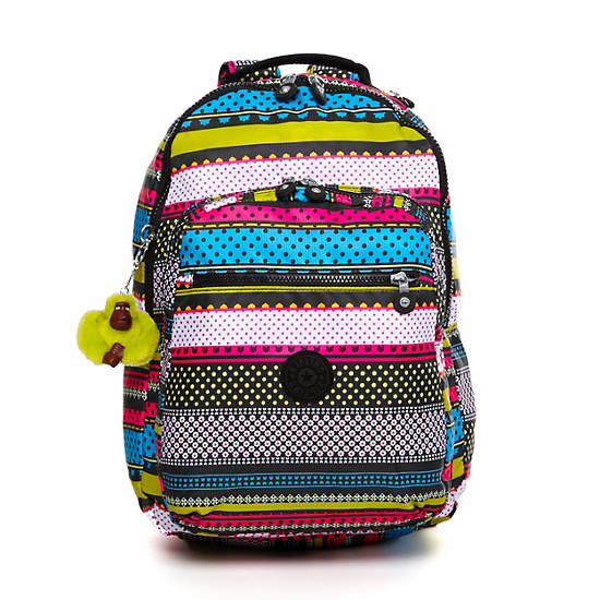 Seoul Large Printed Laptop Backpack,Tapestry Print,large
