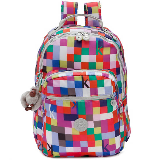 Seoul Large Printed Laptop Backpack,K Squared Pink,large
