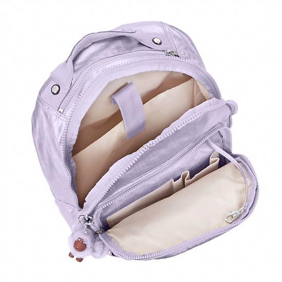 Seoul Large Metallic Laptop Backpack,Frosted Lilac Metallic,large